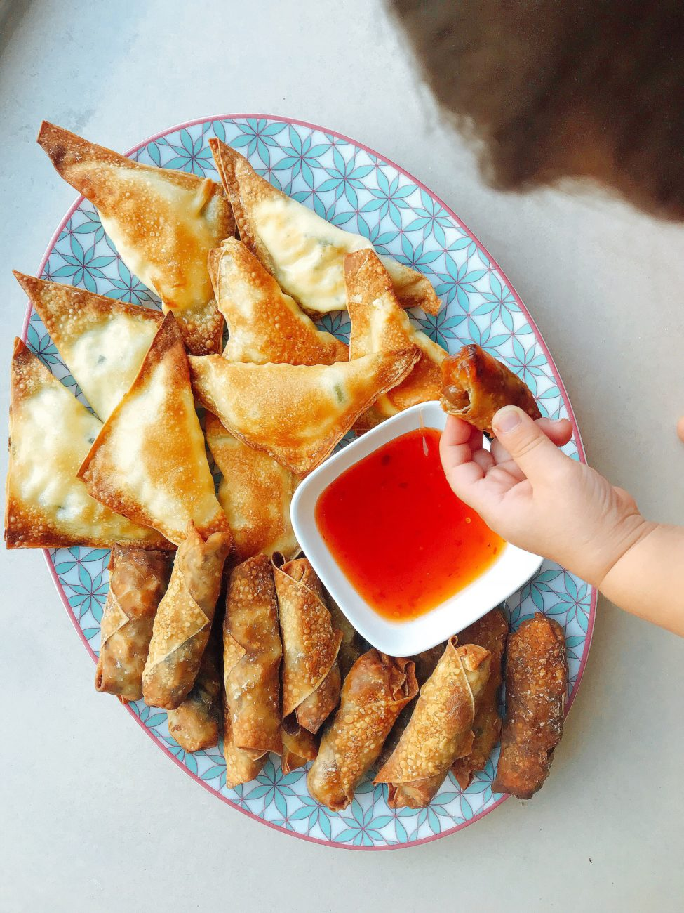 Baked Spring Rolls & Cheese Wontons